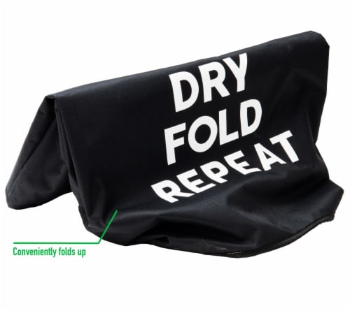 Mind Reader Foldable Cloth Laundry Bag With Handles - Black Perspective: bottom