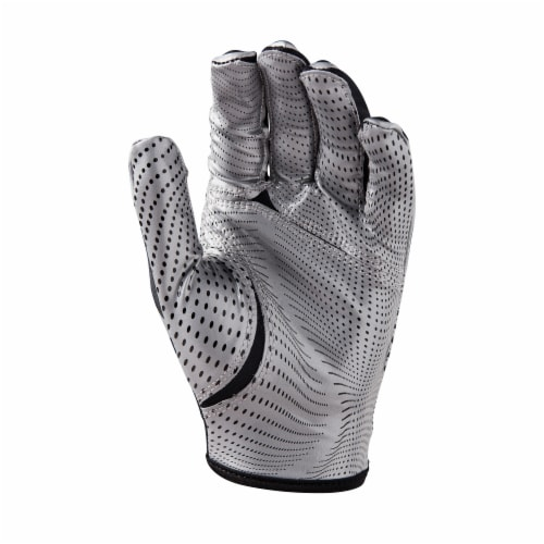 Wilson Youth One Size Football Gloves - Silver Perspective: bottom