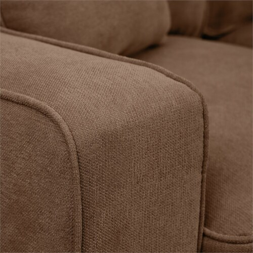 Serta RTA Palisades Collection 61  Loveseat in Fawn Tan Perspective: bottom
