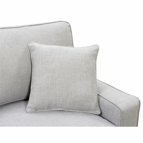 Serta Palisades 61 Loveseat Light Gray Perspective: bottom