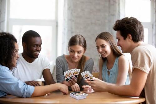 Mattel Uno Dare!™ Card Game Perspective: bottom