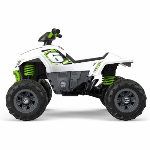 Fisher Price Power Wheels Battery Powered Electric Kids Car ATV Ride Toy, Green Perspective: bottom