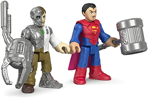 Fisher-Price Imaginext DC Super Friends Action Figures - Superman & Metallo Perspective: bottom