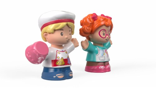 Fisher-Price® Pastry Chef Tia & Sofie Little People Figures Perspective: bottom