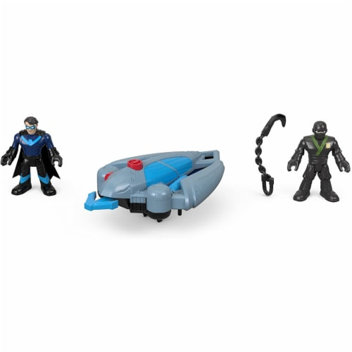 Fisher-Price Imaginext DC Super Friends, Ninja Nightwing & Glider Perspective: bottom