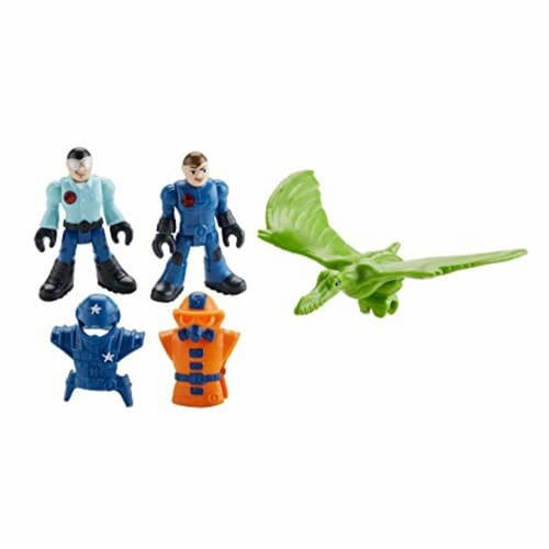 Fisher-Price Imaginext Jurassic World, Park Workers & Pterodactyl Perspective: bottom