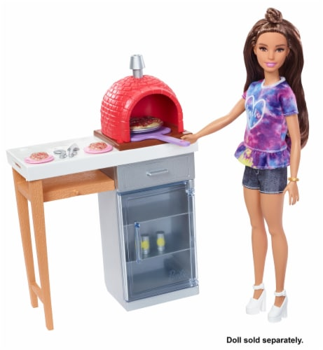 Mattel Barbie® Outdoor Furniture Brick Oven Playset Perspective: bottom