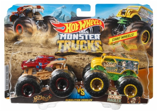 Mattel Hot Wheels® Monster Trucks Demolition Doubles Racing vs Baja Buster Vehicle - Assorted Perspective: bottom