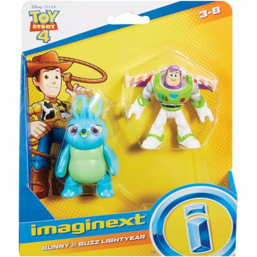 Imaginext® Disney Pixar Toy Story 4 Bunny and Buzz Lightyear Figures Perspective: bottom