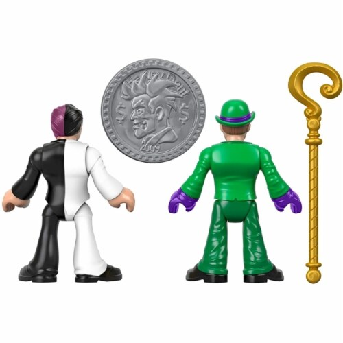 Fisher-Price® Imaginext DC Super Friends - The Riddler and Two Face Figures Perspective: bottom