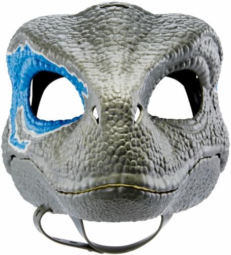 Mattel Jurassic World Velociraptor Camp Cretaceous Mask - Blue Perspective: bottom