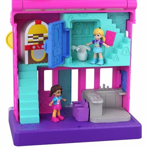 Mattel Polly Pocket Pollyville Diner Scene Perspective: bottom