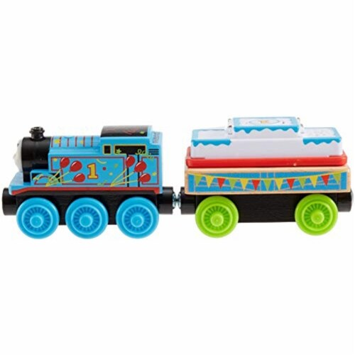 Thomas & Friends Fisher-Price Wood, Birthday Thomas Perspective: bottom