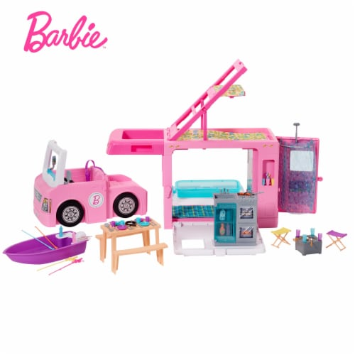 Mattel Barbie 3-in-1 DreamCamper Vehicle and Accessories Playset Perspective: bottom