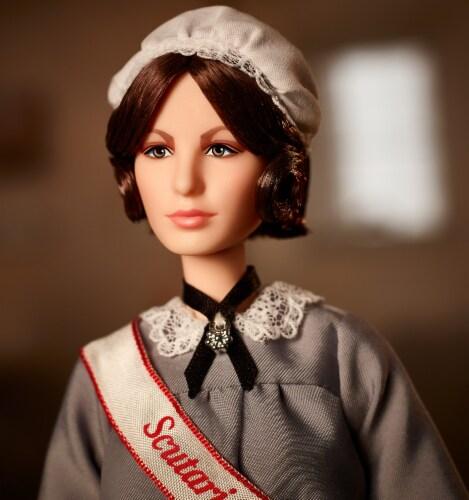 Mattel Barbie® Florence Nightingale Inspiring Women Doll Perspective: bottom