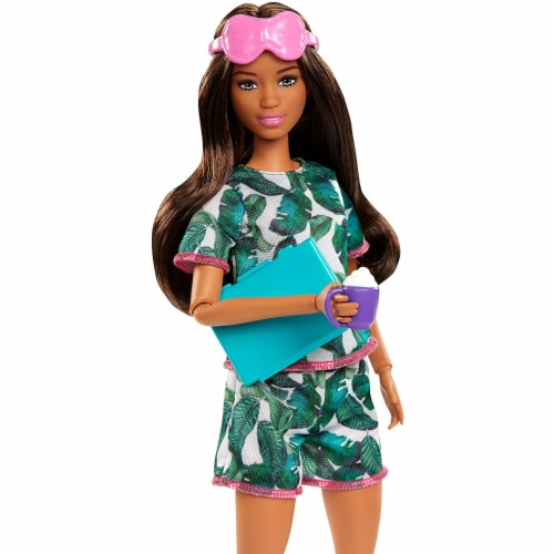 Barbie Brunette Relaxation Doll, with Puppy and 8 Accessories Perspective: bottom