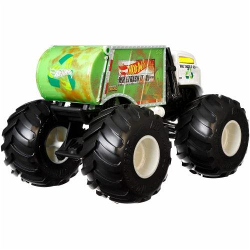 Mattel Hot Wheels® Monster Trucks Will Trash It All Vehicle Perspective: bottom