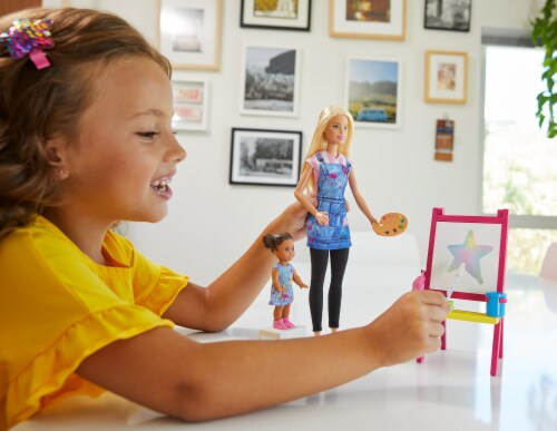 Mattel Barbie® You Can Be Anything Art Teacher Playset Perspective: bottom