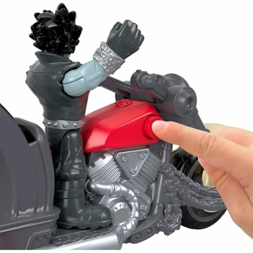 Fisher-Price Imaginext DC Super Friends Lobo & Motorcycle Perspective: bottom