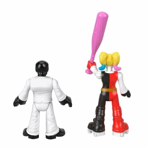Fisher-Price Imaginext DC Super Friends Harley Quinn & Black Mask Figures Perspective: bottom