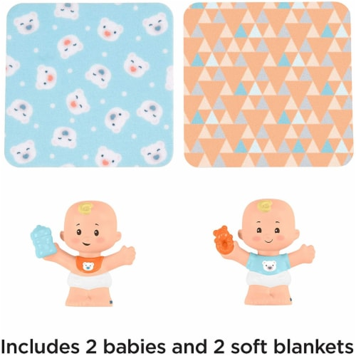 Fisher-Price Little People Snuggle Twins Figure Set for Toddlers, Blonde Perspective: bottom