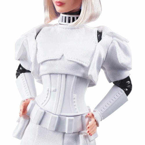 Star Wars x Barbie GLY29 Stormtrooper Collector Doll with Accessories and Stand Perspective: bottom