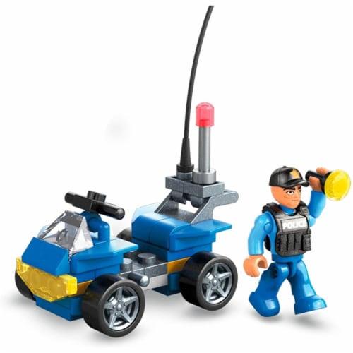 Mega Construx Wonder Builders, Police ATV (50 Pcs) Perspective: bottom
