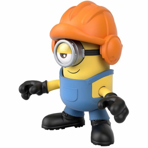 Fisher Price Despicable Me Minions: Rise of Gru Imaginext Stuart with Hard Hat Mini Figure Perspective: bottom