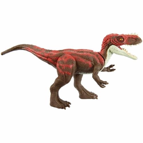 Jurassic World Attack Pack Alioramus Figure Perspective: bottom