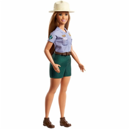Barbie Blonde Curvy Park Ranger Doll with Ranger Outfit Perspective: bottom