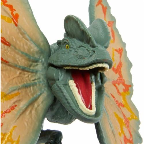 Jurassic World Savage Strike Dilophosaurus Figure Perspective: bottom