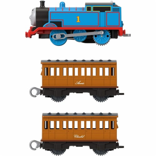 Thomas & Friends Fisher-Price Thomas Annie & Clarabel Motorized Toy Train Perspective: bottom