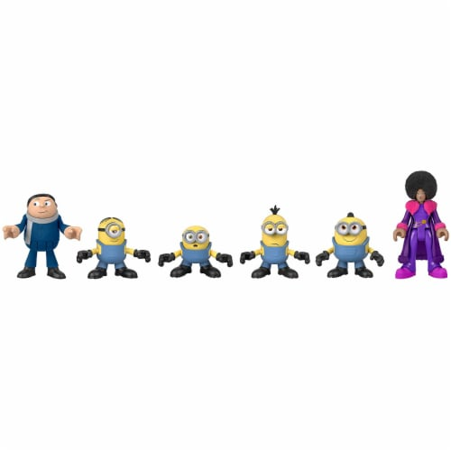 Fisher-Price Imaginext Minions Figure Pack, set of 6 film character figures Perspective: bottom