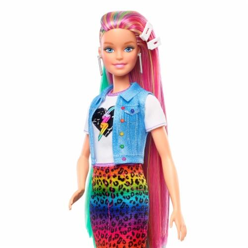 Mattel Barbie® Leopard Rainbow Hair Doll Perspective: bottom