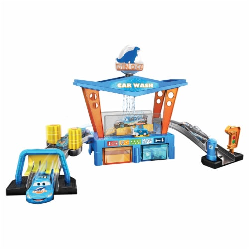 Mattel Disney Pixar Cars Color Change Dinoco Car Wash Playset Perspective: bottom