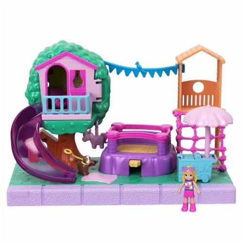 Mattel Polly Pocket Pollyville Playground Adventure Play Set Perspective: bottom