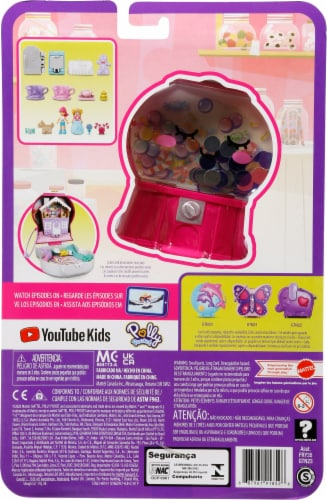 Mattel® Polly Pocket™ Candy Cutie Gumball Compact Playset Perspective: bottom