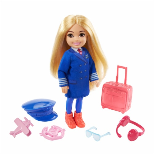 Barbie® Chelsea™ Career Doll Flight Attendant Doll Perspective: bottom