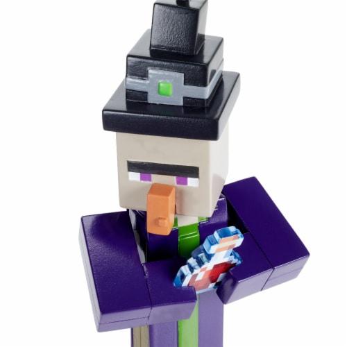 Mattel Minecraft Witch Figure Perspective: bottom