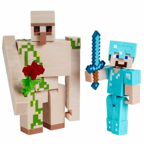 Minecraft Craft A Block Steve Iron Golem Figure Set Perspective: bottom
