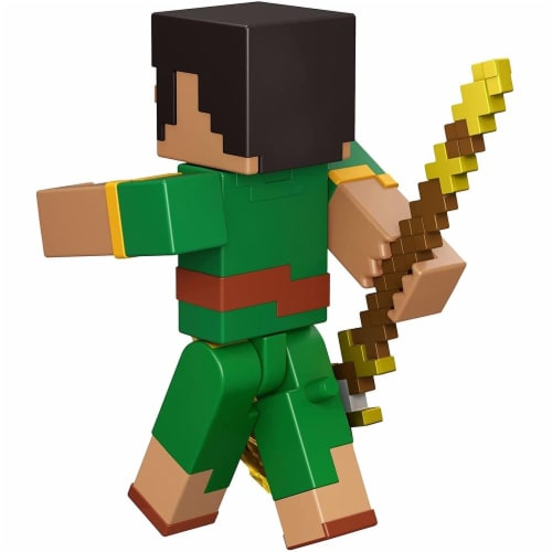 Minecraft Dungeons 3.25-in Collectible Jade Battle Figure and Accessories Perspective: bottom