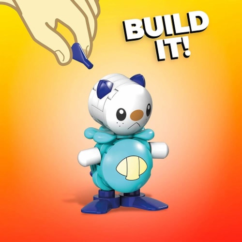 Mega Construx Pokemon Oshawott Construction Set, Building Toys for Kids Perspective: bottom