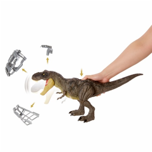 Mattel Jurassic World Stomp Attack Tyrannosaurus Rex Figurine Perspective: bottom