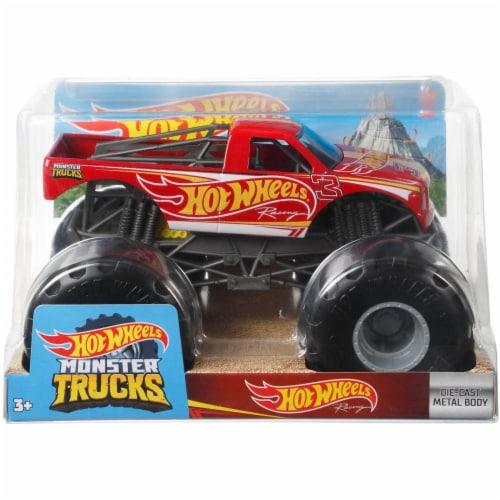 Mattel Hot Wheels® Monster Trucks Red Racing 3 Vehicle Perspective: bottom
