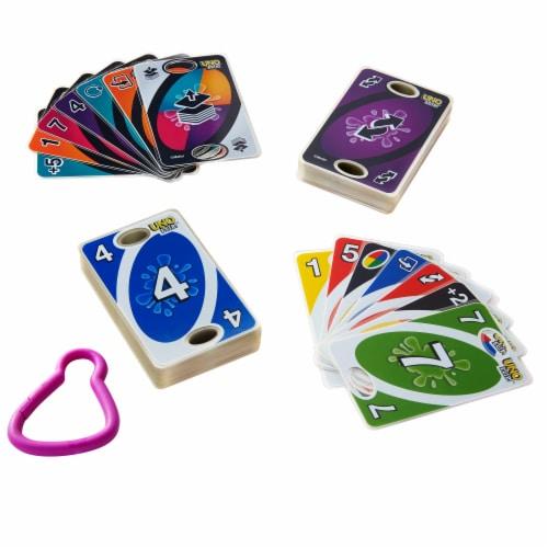Uno Flip Splash Card Game Perspective: bottom