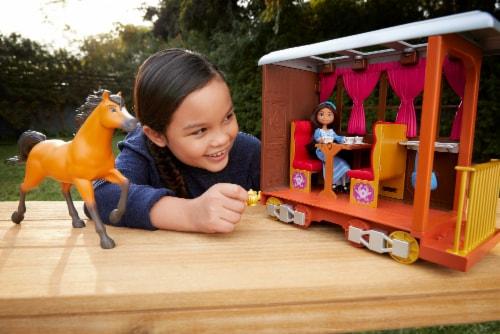 Mattel Spirit Untamed Lucky's Train Home Playset Perspective: bottom