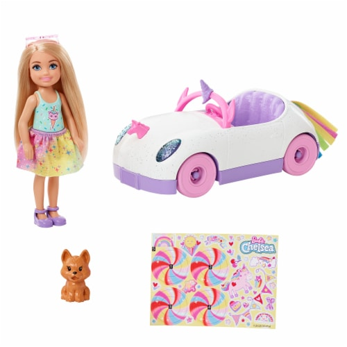 Mattel Barbie Chelsea Doll and Car Toy Set Perspective: bottom