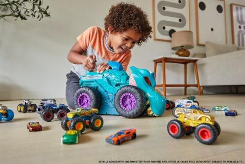 Mattel Hot Wheels Monster Trucks Car Chompin Mega-Wrex Vehicle Perspective: bottom