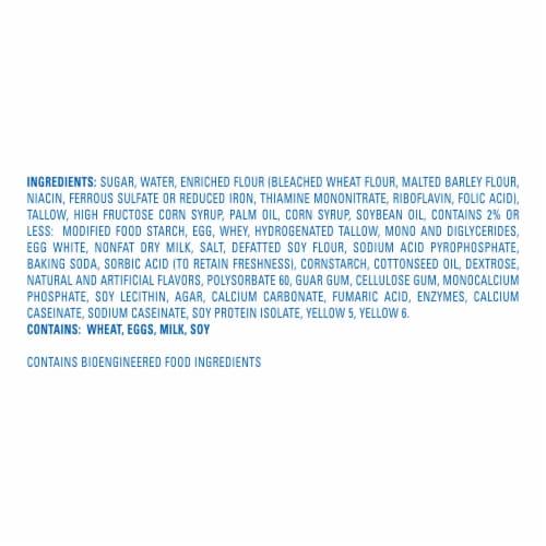 Hostess Iced Vanilla Zingers Snack Cakes Perspective: bottom