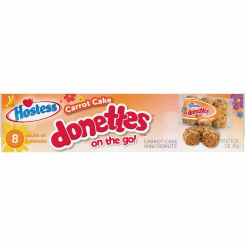 Hostess Limited Edition Carrot Cake Donettes On The Go Perspective: bottom